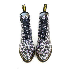 DR. MARTENS Boots Womens Sz 7 FLORAL LOTTIE